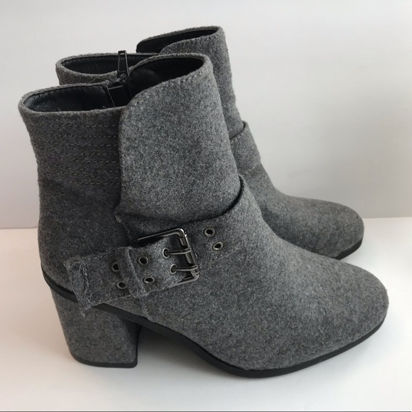 Muk Luks Gray Flannel Ankle Boot